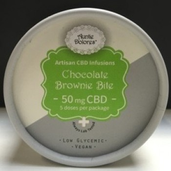 CBD Chocolate Brownie Bite - Baked Good - Auntie Dolores