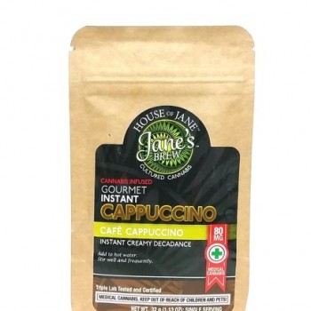 Instant Cappuccino Caffeinated Coffee (80mg) - Beverage - House of Jane (Jane's Brew)