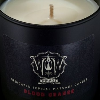 Medicated Topical Massage Candle - Blood Orange